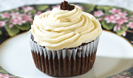 Chocolate Banana Cupcake with P-Nut Butter Frosting
